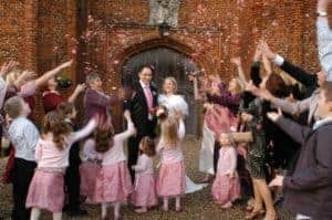 Confetti at Leez Priory