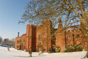 Leez Priory in the Snow