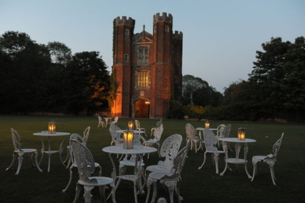 Candles on the Lawn at Leez Priory