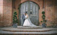 Wedding couple at Leez Priory