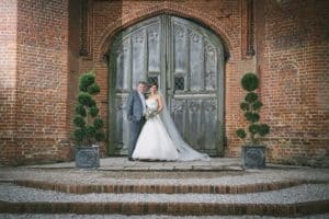 Wedding couple at Leez Priory