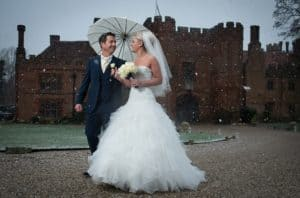 A winter wedding at Leez Priory