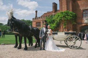 Horse and carriage at Leez Priory
