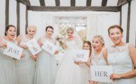 Bride and bridesmaids at Leez priory