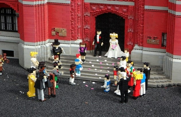 lego wedding ceremony