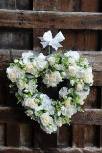 Flowers in a heart shape