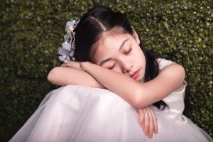 Dreamy flower girl